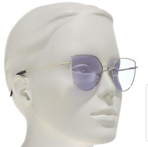 Diff eyewear Pixie XL silver and purple sunglasses